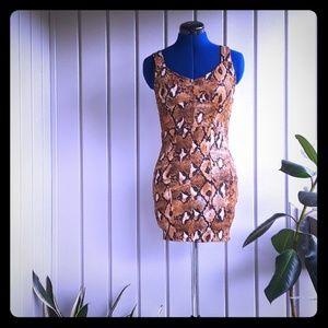 Zara animal print dress size small NWT